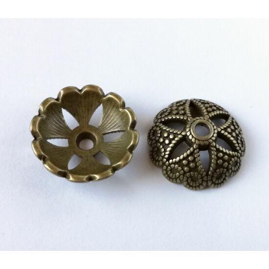 Óriás kupola gyöngykupak antikolt bronz