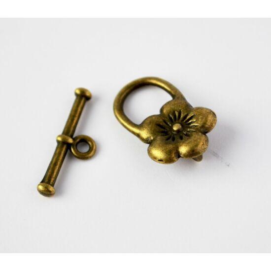 Virágos t-kapocs bronz