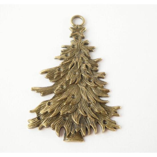 Karácsonyfa medál bronz