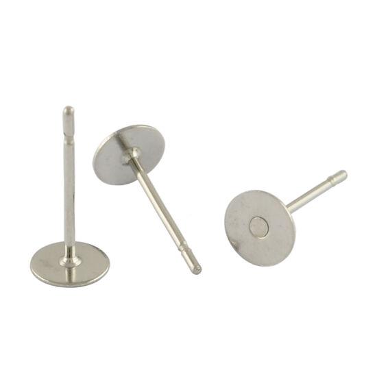 Bedugós fülbevaló alap orvosi fém 6mm 1db!