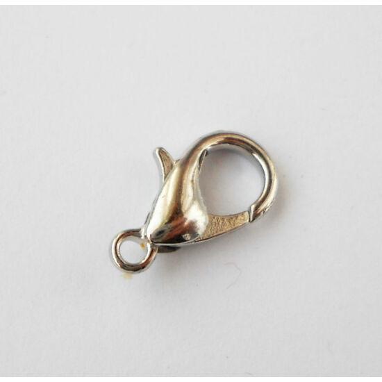 Delfin kapocs 14x8mm platina