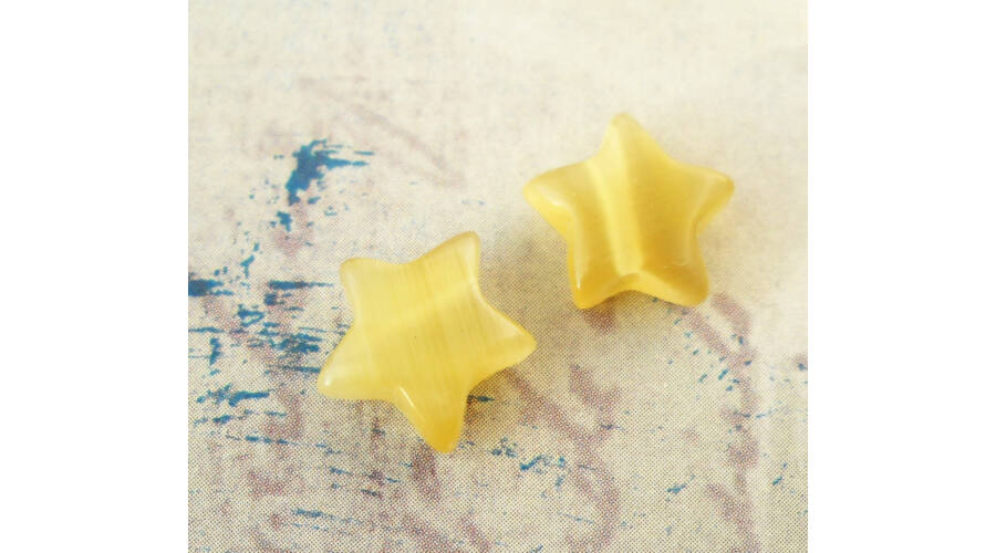 8979d3a07 Csillag gyöngy 10mm mustár 1db