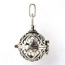 Díszes angyalhívó antikolt ezüst színű
