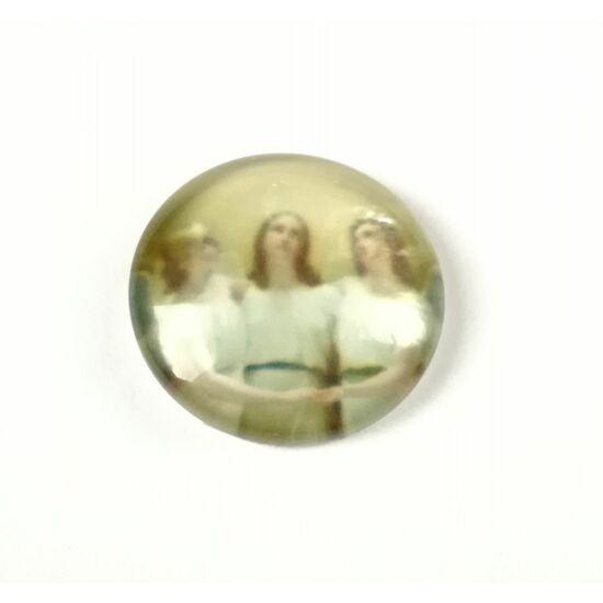 3 angyal mintás üveglencse 18mm