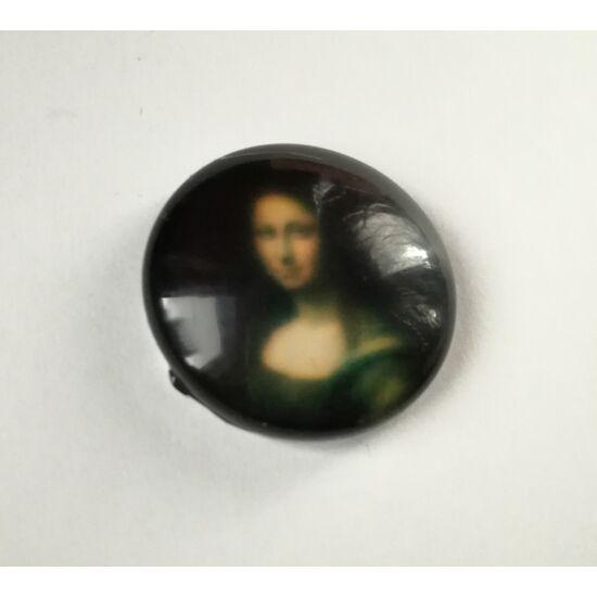 Reneszánsz hölgy mintás üveglencse 18mm