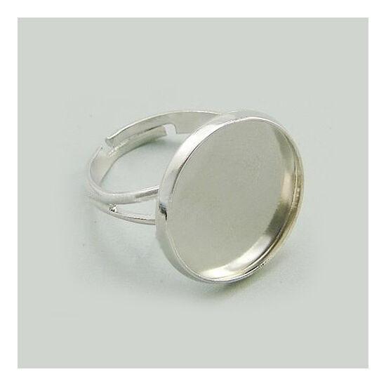 Gyűrű alap platina színű 18mm-es lencséhez