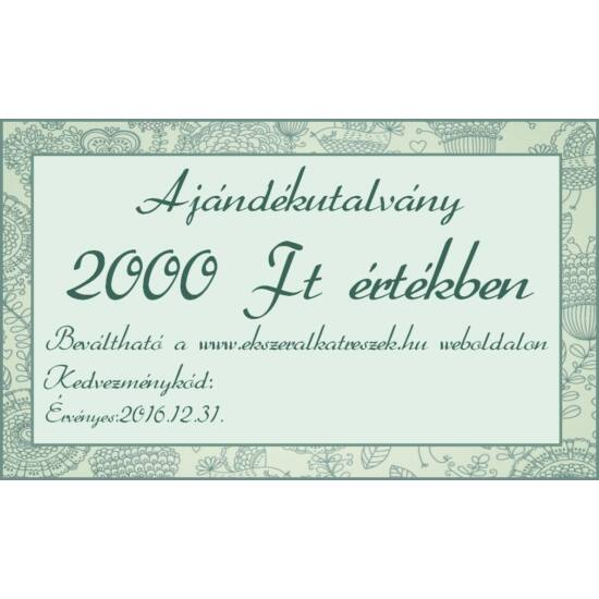 Ajándék utalvány 2000Ft
