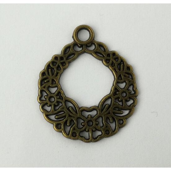 Adventi koszorú charm bronz-Nikkelmentes!