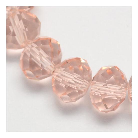 Abacus gyöngy 6x5mm rózsaszín füzérben