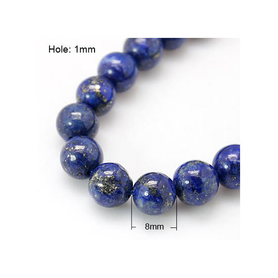 Lápisz lazuli ásvány gyöngy 8mm 5db