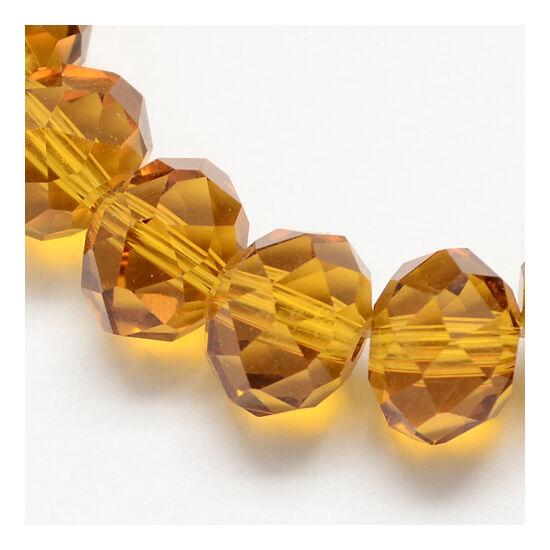Abacus gyöngy 6x5mm borostyán füzérben