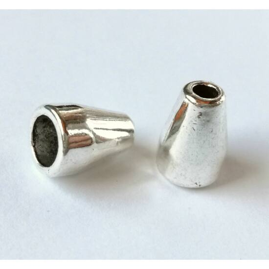 Keskeny, kúpos gyöngykupak ezüst