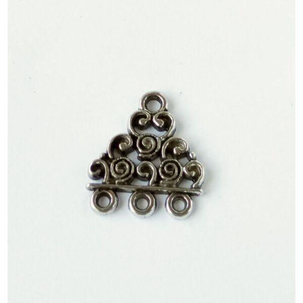 Csigás összekötő ezüst színű