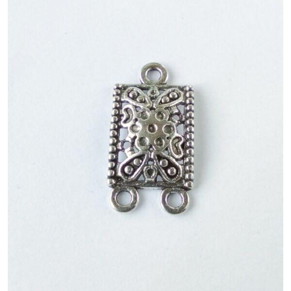 Téglalap összekötő ezüst színű