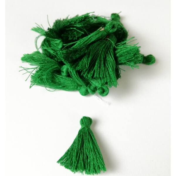Pamut bojt 3cm smaragd