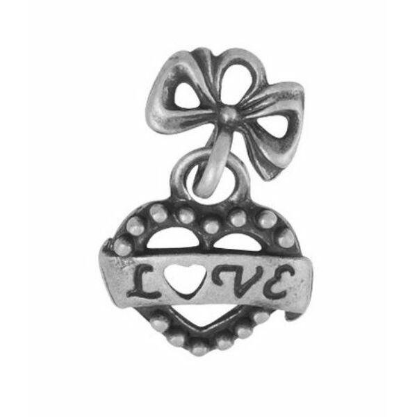Szív charm ezüst-Nikkelmentes
