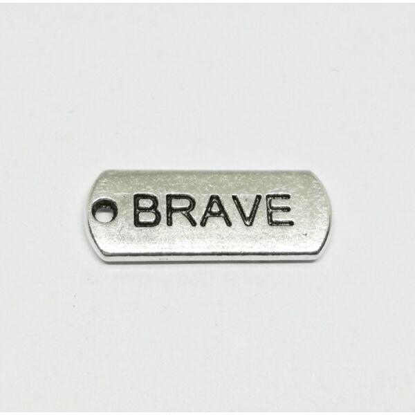 Biléta charm ezüst-Brave