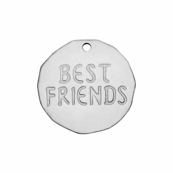 """""""BEST FRIENDS"""" rozsdamentes acél charm"""