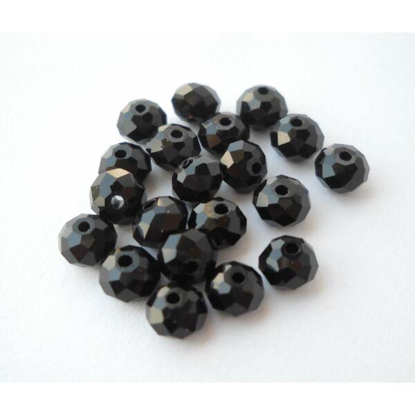 Abacus gyöngy 6x5mm fekete 20db