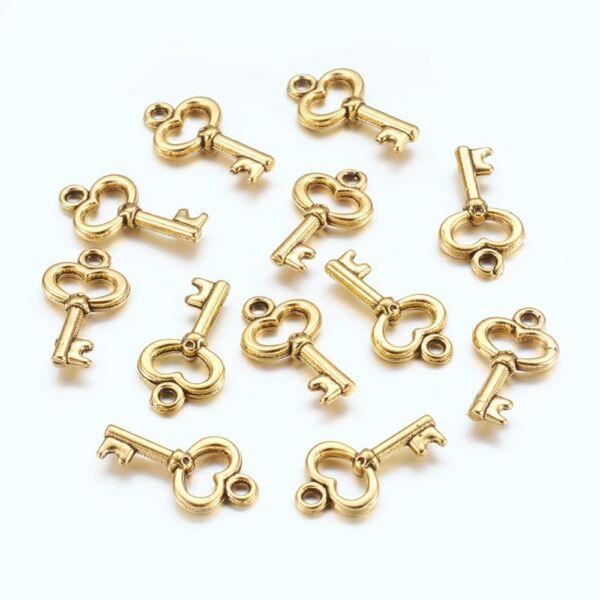 Arany kulcs charm