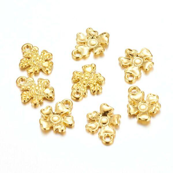 Arany virág charm