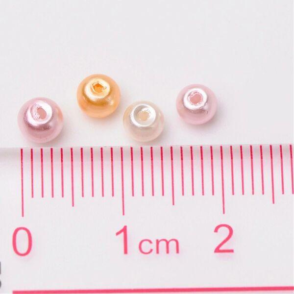 Viaszgyöngy csomag 4mm-Rosé