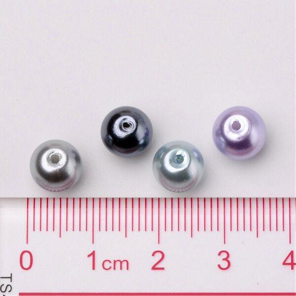 Viaszgyöngy csomag 8mm-Ezüstróka