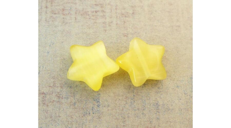 122bcc4e0 Csillag gyöngy 10mm sárga 1db
