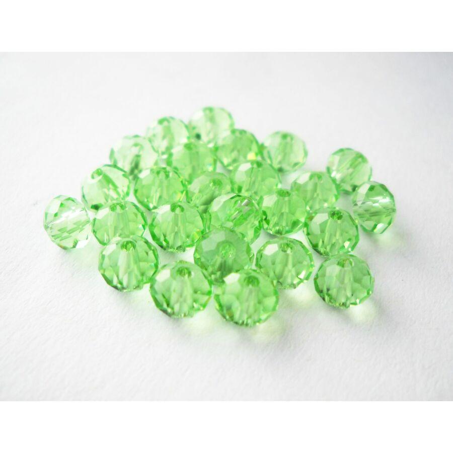 Abacus gyöngy 6x5mm halványzöld 20db