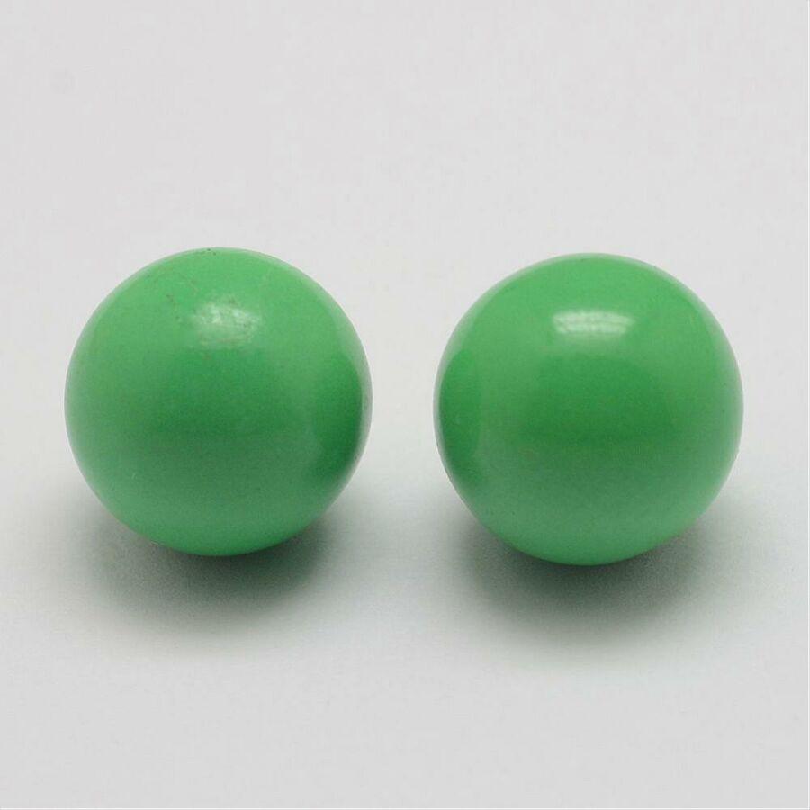 Angyalhívóba csengő golyó zöld 18mm