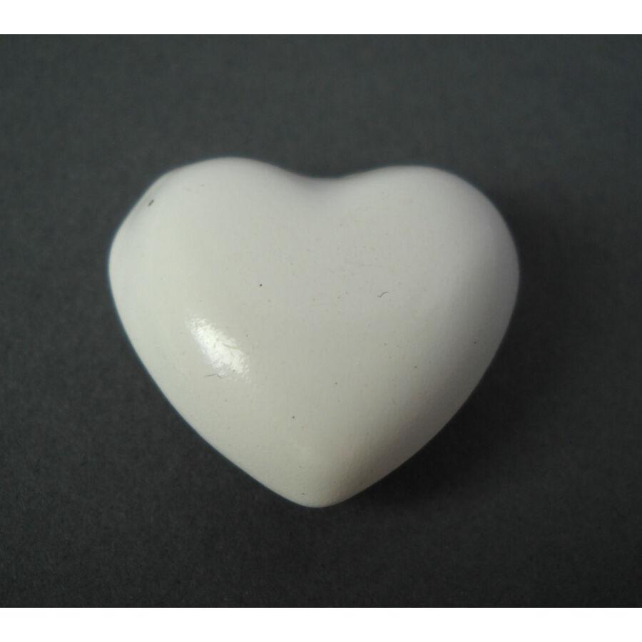 Szív csengő angyalhívóhoz fehér