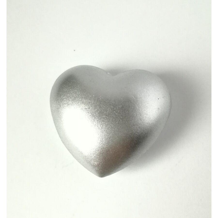Szív csengő angyalhívóhoz ezüst