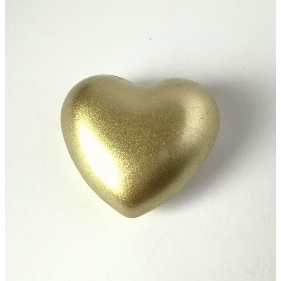 Szív csengő angyalhívóhoz arany