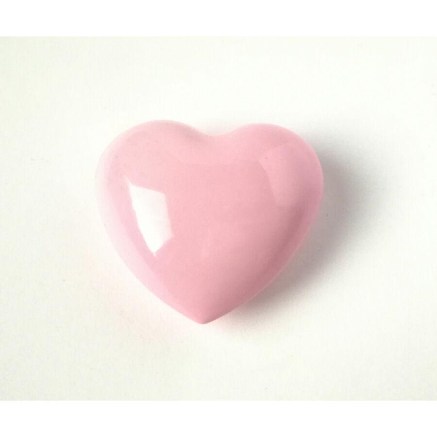 Szív csengő angyalhívóhoz rózsaszín