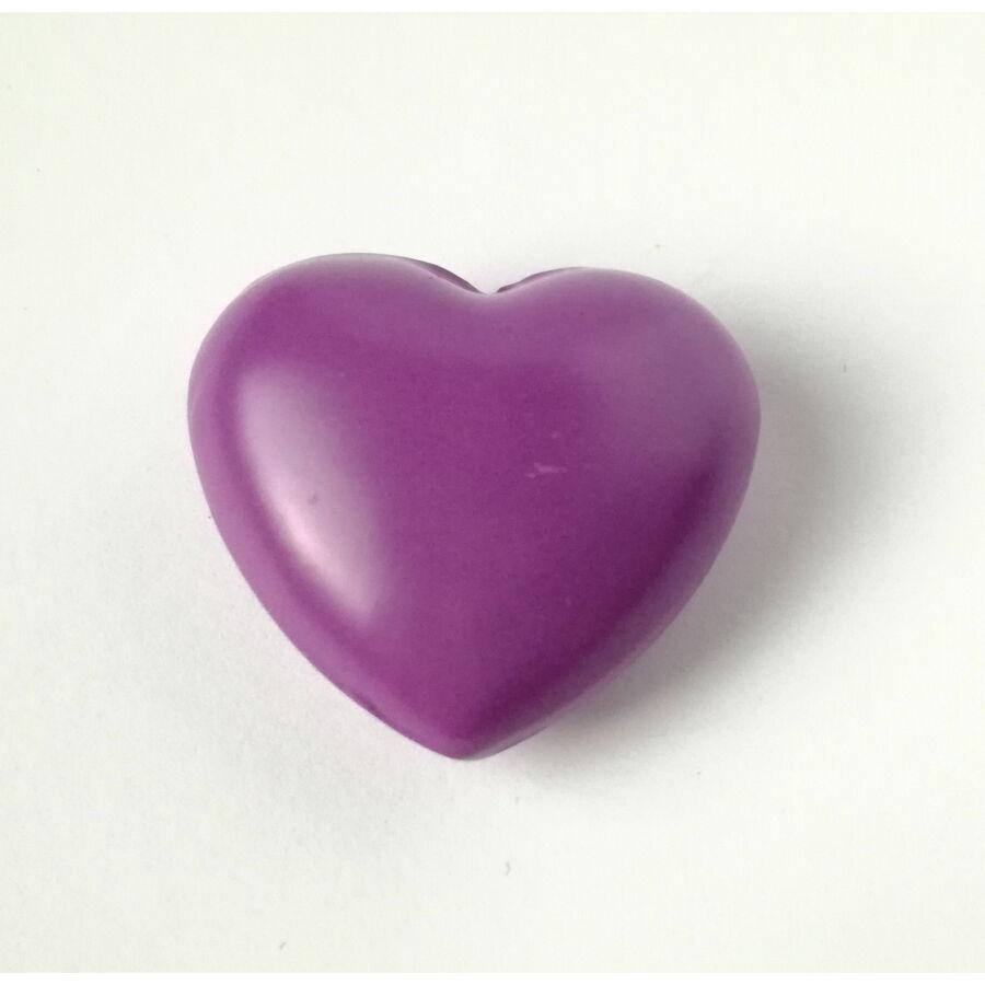 Szív csengő angyalhívóhoz lila