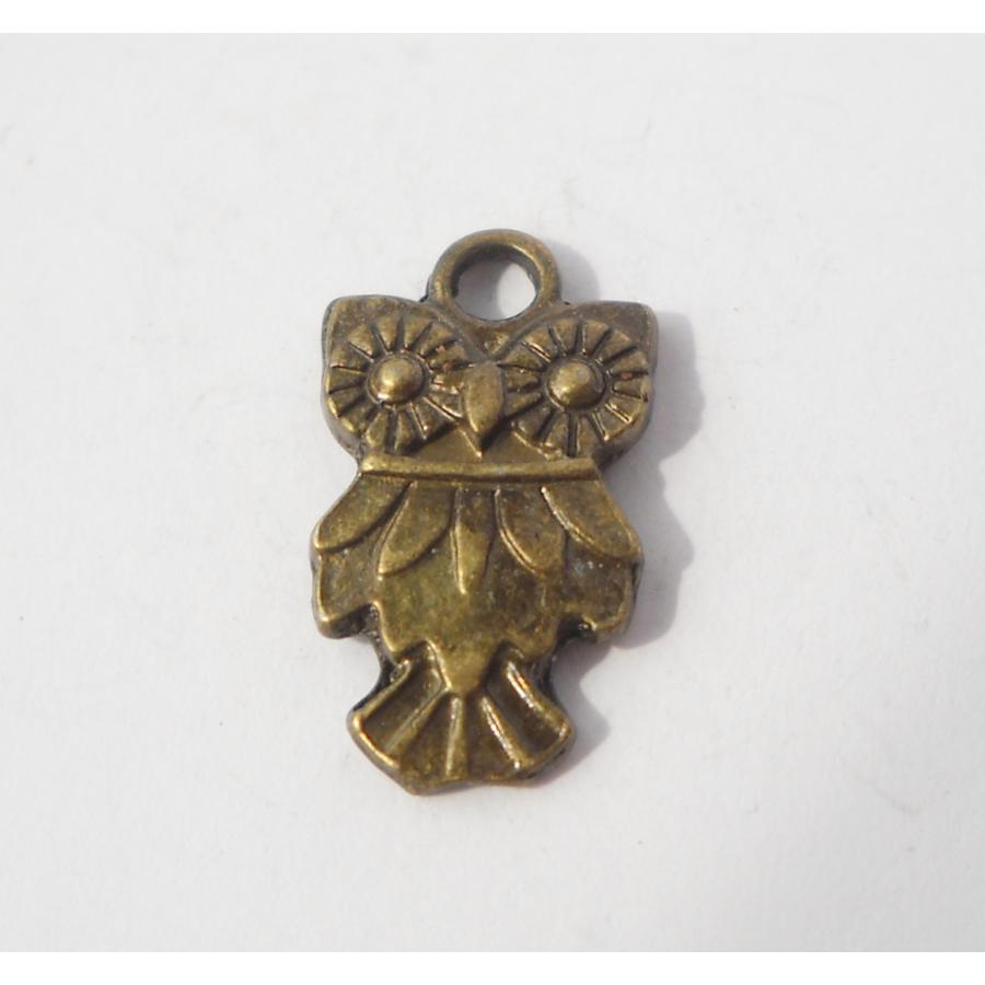 Mini bagoly charm bronz