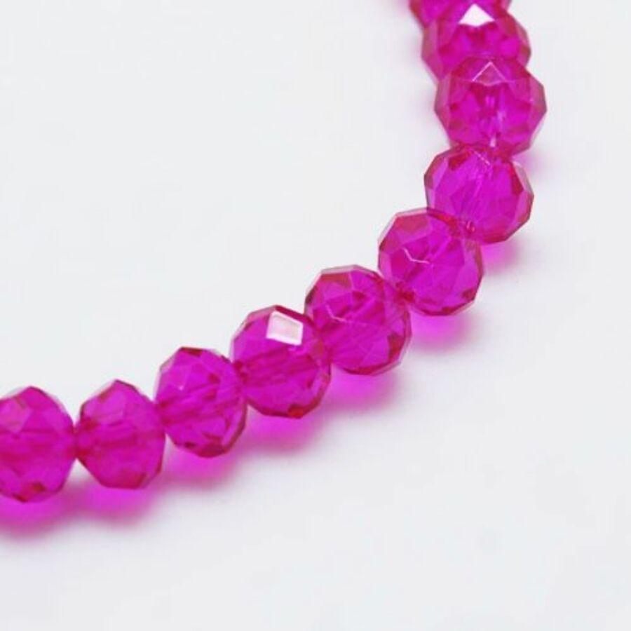Abacus gyöngy 4x3mm pink 25db