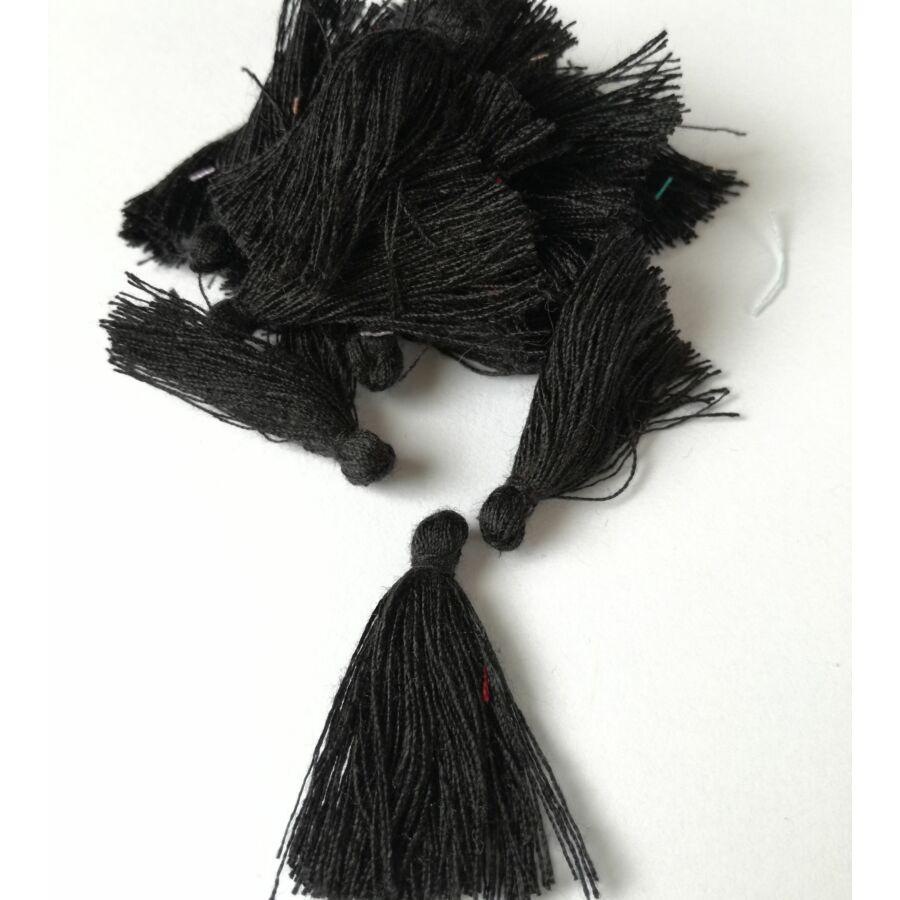 Pamut bojt 3cm fekete