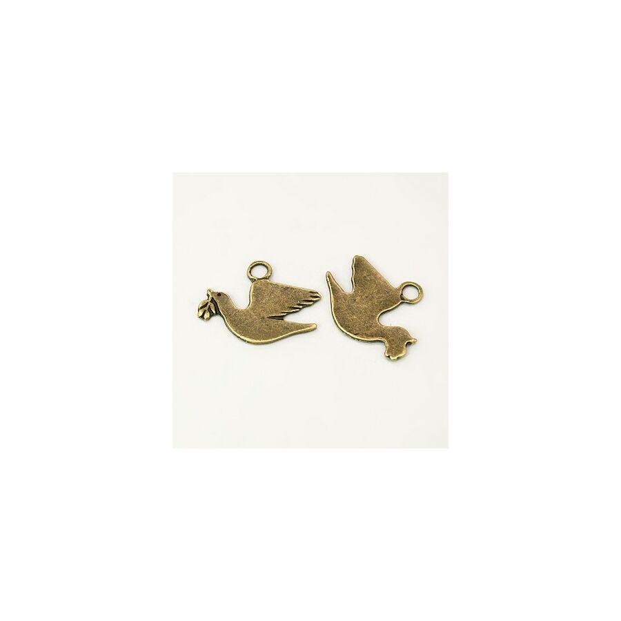 Galamb charm bronz