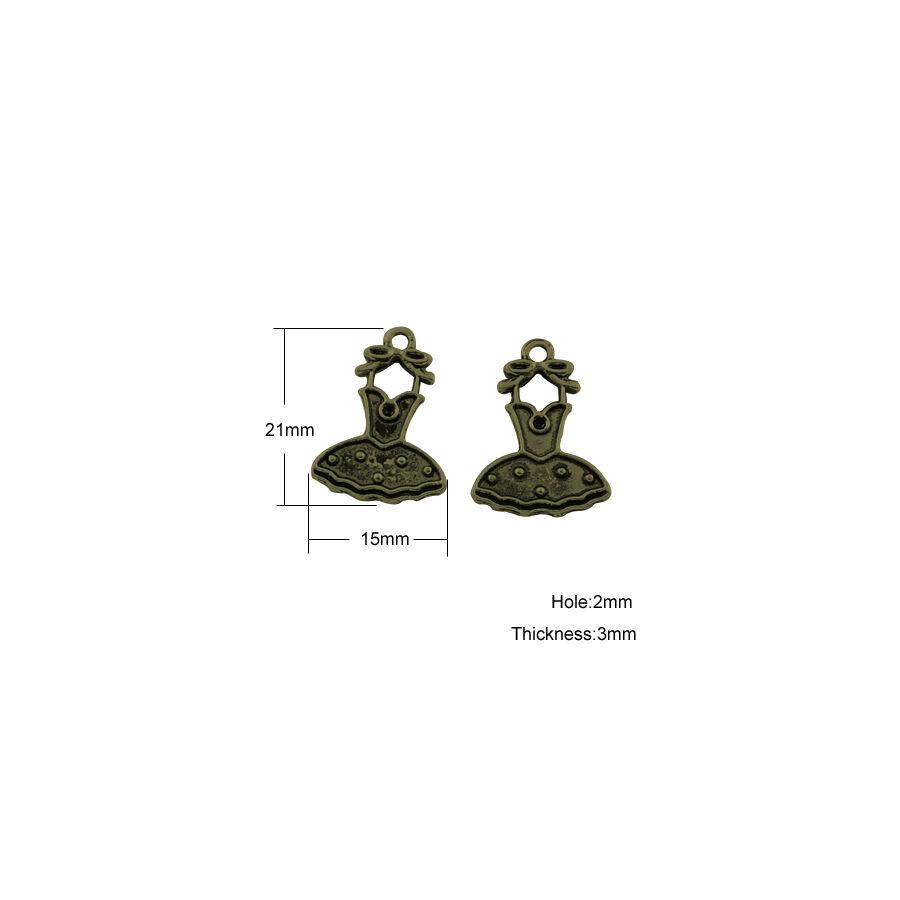 Ruha charm bronz-Nikkelmentes