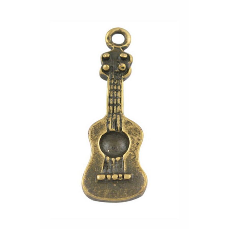 Gitár charm bronz-Nikkelmentes