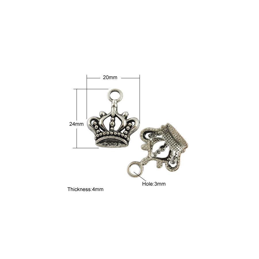 Korona charm ezüst-Nikkelmentes