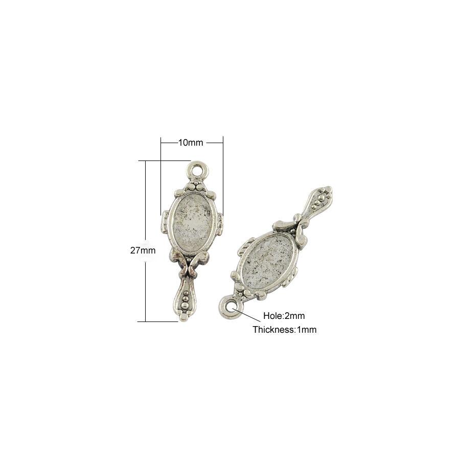 Tükör charm ezüst-Nikkelmentes