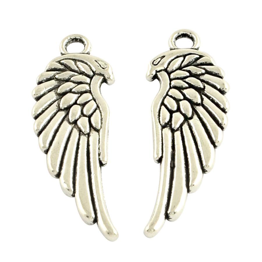Sasfejes szárny charm ezüst