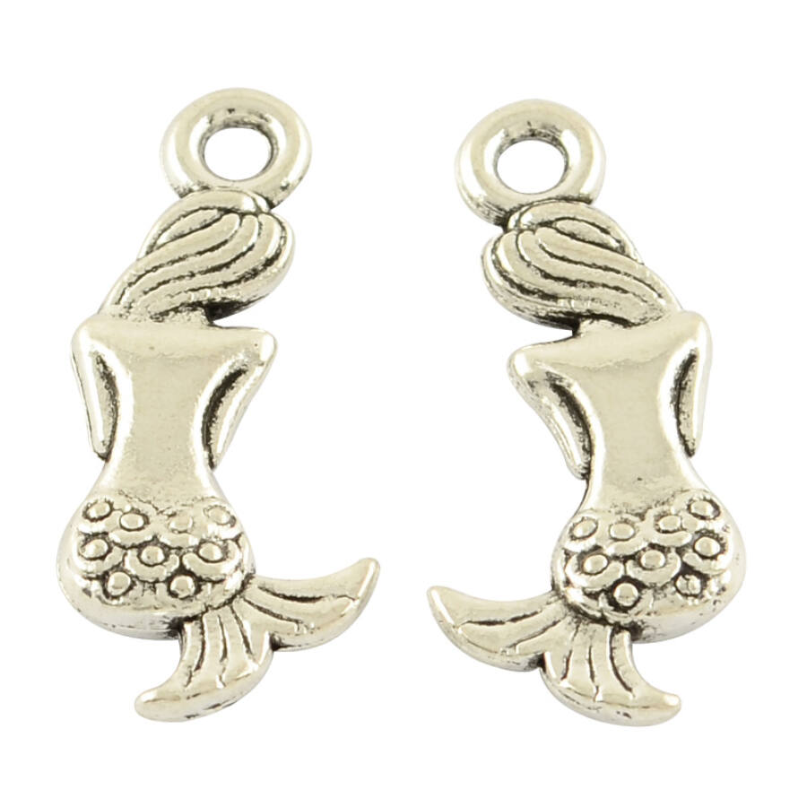 Sellő/hableány charm ezüst