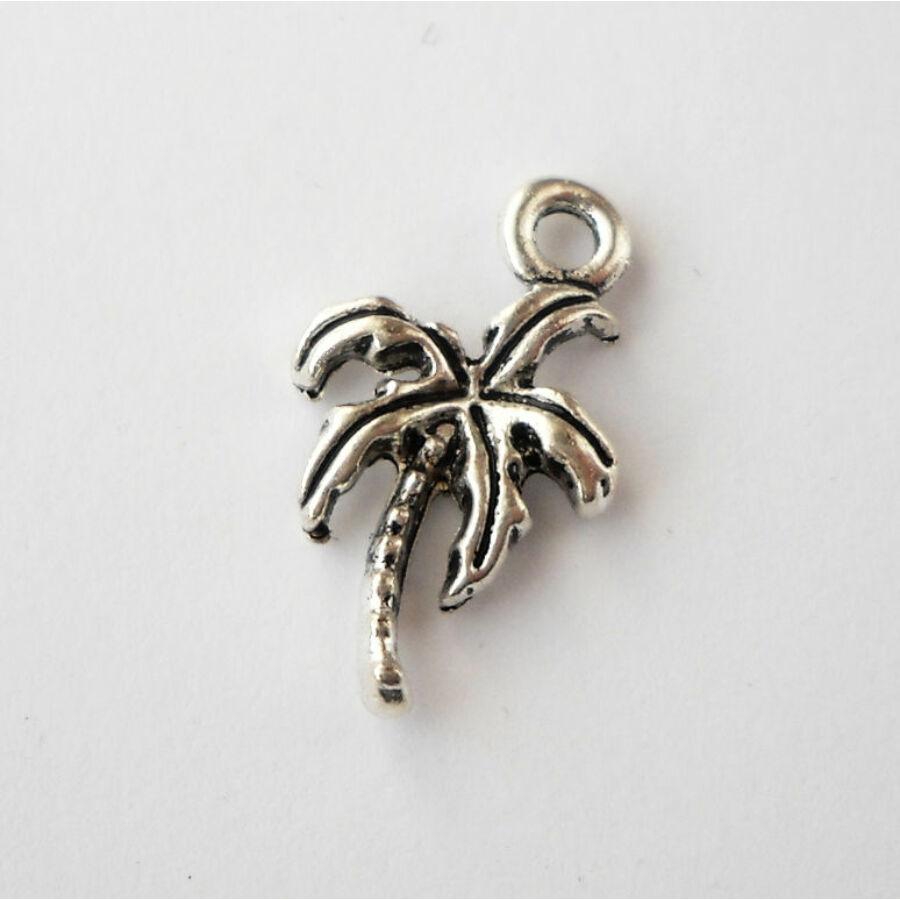 Pálmafa charm ezüst