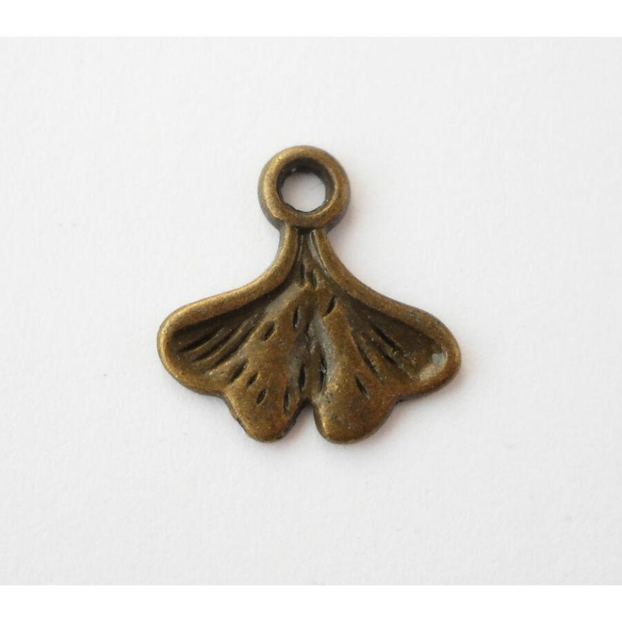 Gingkó levél charm bronz