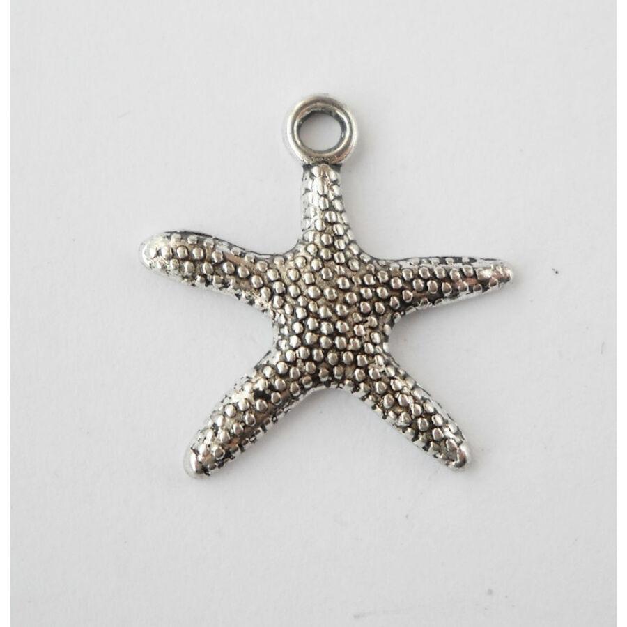 Tengeri csillag charm közepes ezüst