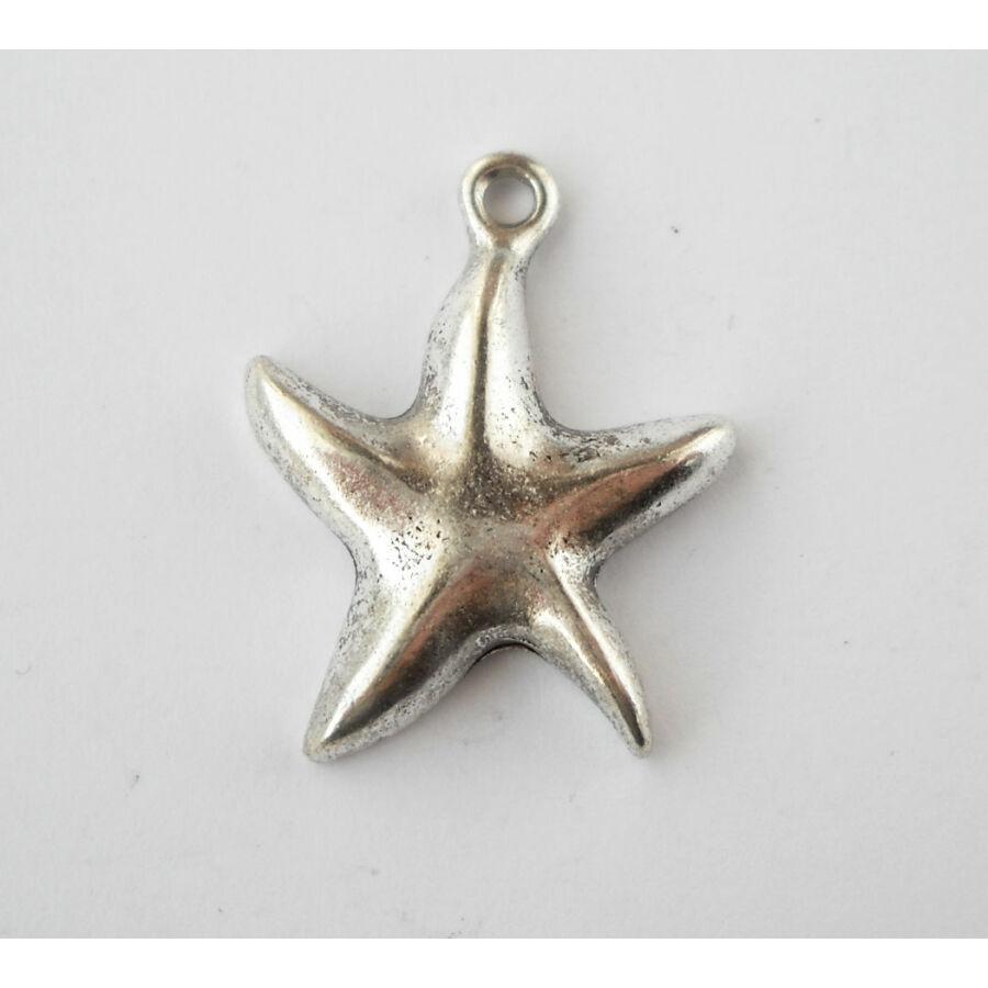 Tengeri csillag charm nagy ezüst
