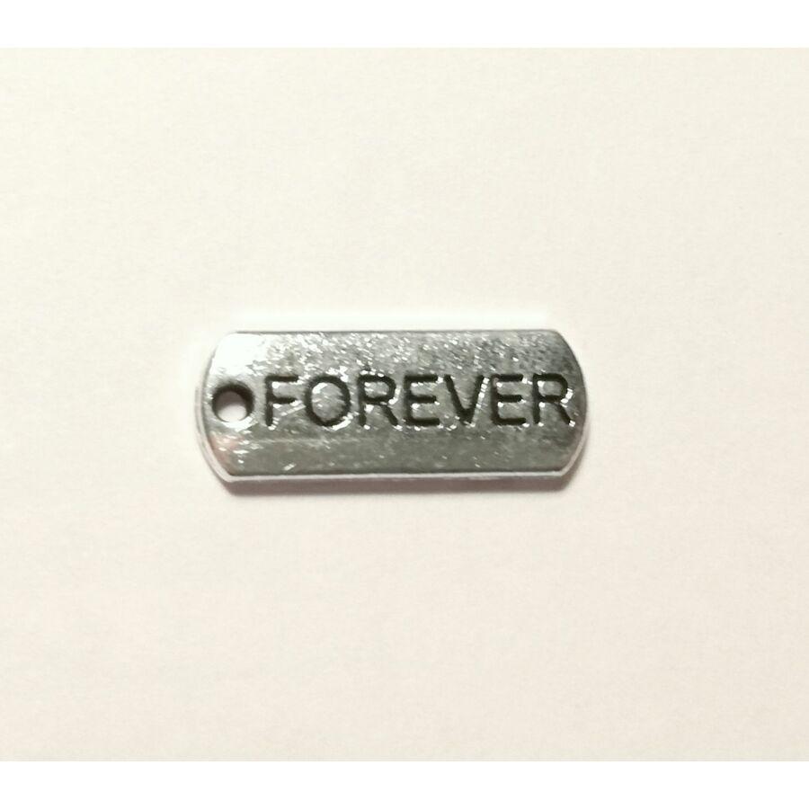 Biléta charm ezüst-Forever